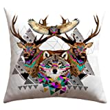 DENY Designs Kris Tate Forest Friends Outdoor Throw Pillow, 18 by 18-Inch
