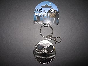 Nightmare Before Christmas New Jack's Head Smile Pewter Keychain
