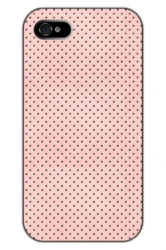 Sprawl New Fashion Design Hard Skin Case Cover Shell For Mobilephone Apple Iphone 4 4S 4G--Black Dots In Pink