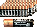 50 Pack Duracell Coppertop MN1500 AA Batteries Expired 2018 or After