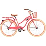Huffy Bicycles 26656 Ladies' Deluxe Cruiser Bicycle, Coral Radiance, 26-In.