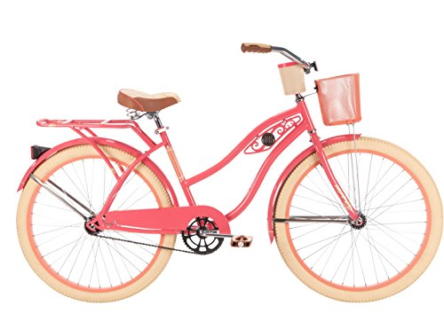 Huffy-Bicycles-26656-Ladies-Deluxe-Cruiser-Bicycle-Coral-Radiance-26-In