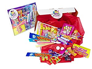 The Letterbox Buster Retro Sweet Box By Treat Town! - Crammed Full Of Mouthwatering Old Fashioned Retro Sweets - 100% Money Back Guarantee! - Perfect Inexpensive Birthday Gift, Get Well Soon, Congratulations or Anniversary Present Ideas For Him and Her: B