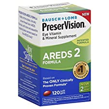 Bausch & Lomb PreserVision Eye Vitamin and Mineral Supplement, Soft Gels, 120 ct.