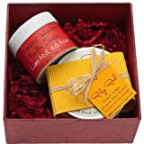 Ruby Red Organic Box of Winter Gorgeousness Includes Organic Bath Soak 70g and Organic Whipped Shea Butter Moisturiser 200mlby Ruby Red