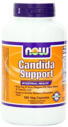 buy Now Foods Candida Support Formula, Veg-Capsules, 180-Count