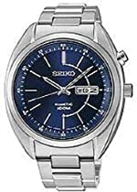 Men Seiko SMY121 Kinetic Stainless Steel Case and Bracelet Blue Tone Dial Day a