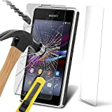 Fone-Case ( Pack Of 1 ) Sony Xperia E1 Case Brand New Luxury Tempered Glass Crystal Clear LCD Screen Protectors Packs With Polishing Cloth & Application Card