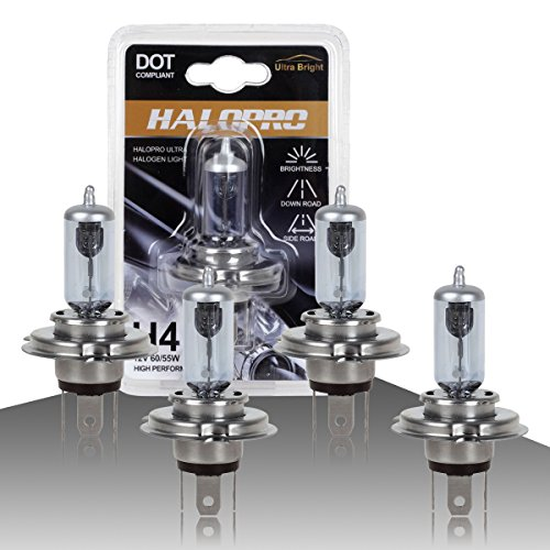 HaloPro High Performance 4pcs H4 9003 HB2 12V 60/55W Headlight High&Low Beam Halogen Bulb 7000-8000K Night White Land Rover / Acura / MAZDA (1996 4runner Headlight Assembly compare prices)