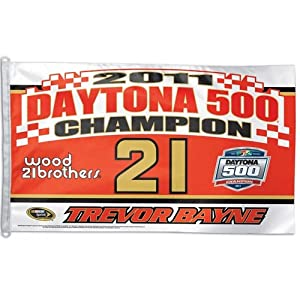 Trevor Bayne Official NASCAR 3ftx5ft Banner Flag by Wincraft by WinCraft