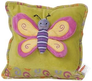 Play n Pets PNP-3495G Butterfly Cushion 27cm, Green