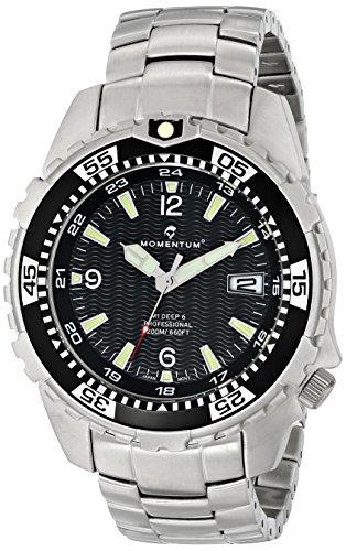 Momentum  1M-DV06B00 - Reloj de cuarzo para hombre, con correa de acero inoxidable, color plateado