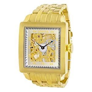 Invicta Men's Signature Collection Mechanical Skeleton Gold-Tone Watch #7206