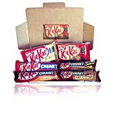 Kit Kat Lovers Limited Edition Treat Box - Chucky Original, Orange, Double Caramel, Peanut Butter, White - By Moreton Gifts