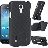 Maxboost Shell Holster Combo Protective Case for Samsung Galaxy S4 Mini with Kick-Stand Belt Clip Holster [Black]- Fits Any Version of Samsung Galaxy S4 Mini / Samsung Galaxy SIV Mini i9190 i9192 and i9195 includes Models for AT&T, Verizon, Sprint, T-Mobile, International Unlocked (A.K.A Samsung Galaxy S4 Mini Case / Samsung Galaxy S4 Mini Holster Case / Samsung Galaxy S4 Mini Belt Clip / Samsung Galaxy S4 Mini Kickstand Case / Samsung Galaxy SIV Mini Case / Samsung Galaxy S4 Mini Holster)