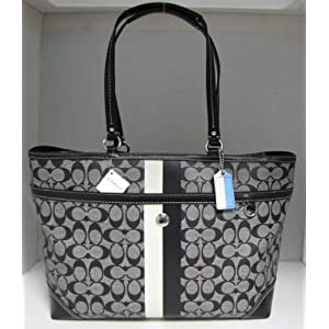 Women's Chelsea Signature Black White/Black Leather/PVC Multi-Purpose Tote: Black White/Black Tote