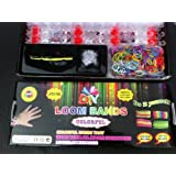 Creative Colorful Loom Band Kit ... Loom Tool, 600 Multi-color Band + Clips