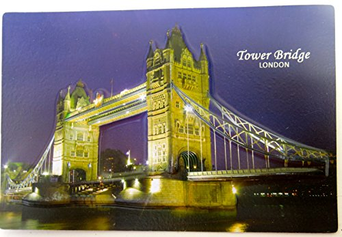 London Bridges, Three Dimension Standard Magnet, England Souvenirs, Molded Dramatic Magnets Souvenir 4 1/2 X 6 1/2 - 1