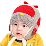 Happy Cherry - Beb�s ni�os ni�as Gorra Gorro Sombrero Infantil Caliente de Invierno para recien nacidos protector de orejas - Gris 0-3 a�os
