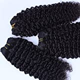 Junhair 5A Cambodian Virgin Human Hair Weft Kinky Curly 3pcs/lot 300gram Natural Colour
