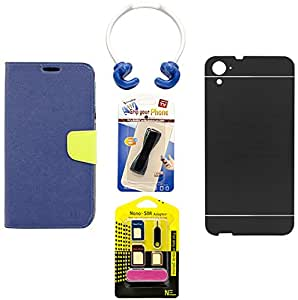 Mify Mobile Accessories Combo for HTC Desire 826, Black & Blue