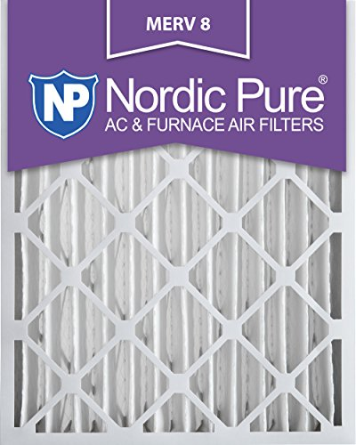 Nordic Pure 18x24x4M8-2 MERV 8 Pleated AC Furnace Air Filter, 18x24x4, Box of 2