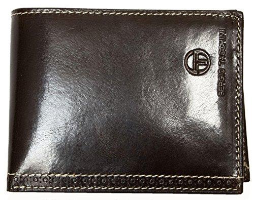 Sergio Tacchini portafoglio marrone realizzato in pelle lucida resistente