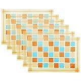 Ratios PVC Multi Square Table Mats (Set of 6)