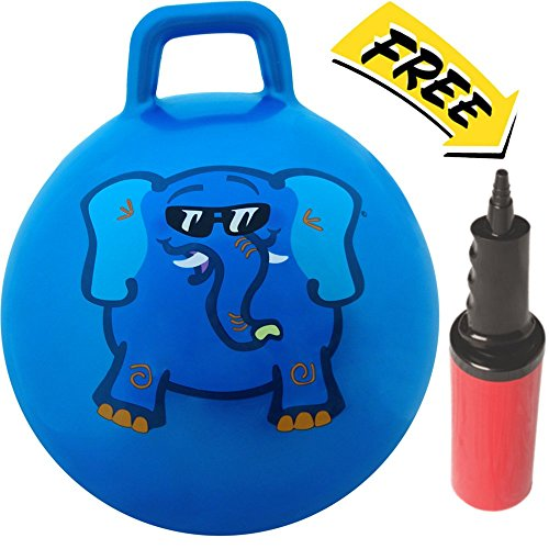 WALIKI-TOYS-Hopper-Ball-Jumping-Hopping-Hippity-Hop-Ball-For-Kids-Ages-3-6-Pump-Included-18-inches-Blue