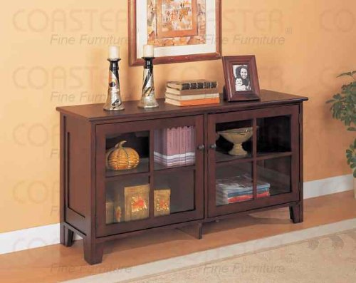 Cheap Coaster Contemporary Console Table/TV Stand, Cappuccino Finish (B001HFH6CC)