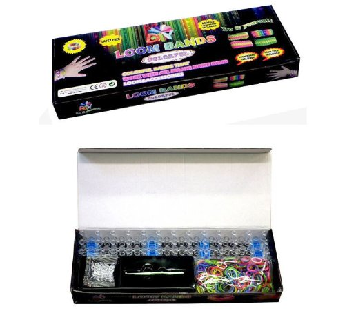 Loom Kit ... 600 Multi-color Band,Loom Board + Clips (6 Charms Included)