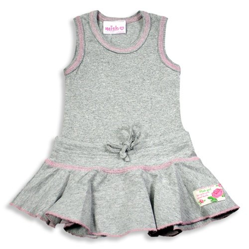 Mishmish - Toddler Girls Tank Dress, Grey - Buy Mishmish - Toddler Girls Tank Dress, Grey - Purchase Mishmish - Toddler Girls Tank Dress, Grey (Mish Mish, Mish Mish Dresses, Mish Mish Girls Dresses, Apparel, Departments, Kids & Baby, Girls, Dresses, Girls Dresses, Casual, Casual Dresses, Girls Casual Dresses)