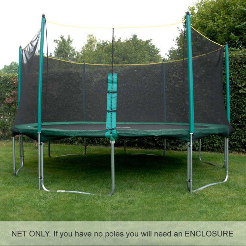 12ft Trampoline Net (for use with trampolines with 6 enclosure poles). Premium quality and highly durable. DOES NOT INCLUDE POLES, SLEEVES OR TRAMPOLINE.