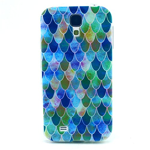 S4 Mini Case, Galaxy S4 Mini Case, Love Sound Slim Fit [Drop Protection] [Shock Absorbent] Premium Flexible Soft TPU Case Slim Case for Samsung Galaxy S4 Mini i9190- Blue Flake (Samsung Galaxy S4 Drop Protection compare prices)