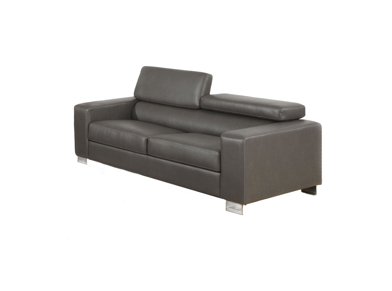 Furniture of America Bloomsbury Bonded Leather Match Sofa - Gray