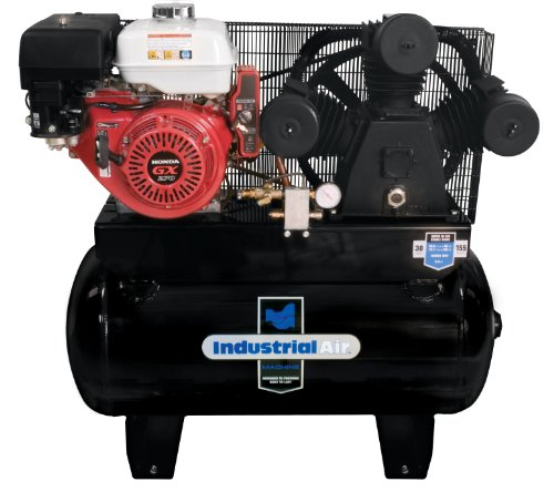 Industrial Air IHA9093080.ES 30-Gallon Gas Powered Truck Mount Air Compressor with Electric Start (Gas Air Compressor 30 Gallon compare prices)