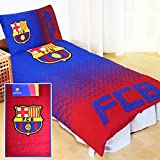 Barcelona Fade Design Reversible Single Duvet Set with Floor Rug Combo