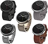 モトローラ Moto 360 Smart Watch スマートウォッチ 腕時計 Android Wear【並行輸入品】 (ブラック レザー)