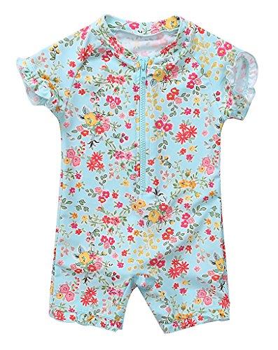 BeautyIn Baby Girls Swimsuits Short Sleeve Swimwear Swimming Costume 9-12M#2(Fulfilled By Amazon),