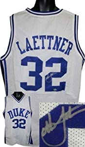 Autographed Christian Laettner Jersey - White Custom - Autographed College Jerseys by Sports+Memorabilia