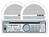 Dual MXCP66 In-Dash Marine AM/FM/CD/MP3 Receiver 6 1/2-Inch Speaker Combo Pack - White