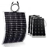 4x 100W Mono Flexible Photovoltaic PV Solar Panel Module RV Boat Roof 400W Total