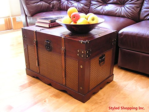 Boston Wood Chest Wooden Steamer Trunk - Large Trunk 1