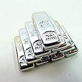 銀の延べ棒レプリカ10個まとめて Aタイプ MC-001【銀塊シルバーバー】