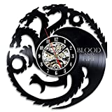 Game of Thrones HBO Movie Characters Vinyl Record Design Wall Clock - Decorate your home with Modern Famous GOT Art - Best gift for him or her, girlfriend or boyfriend - Win a prize for feedback