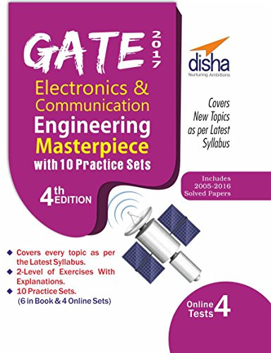 GATE 2017 Electronics & Communication Engineering Masterpiece with 10 Practice Sets (6 in Book + 4 Online)