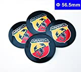 4pcs D029 56.5mm Emblem Badge Sticker Wheel Hub Caps Centre Cover ABARTH Racing Italy For FIAT 124 125 125 500 695 OT2000 Coupe