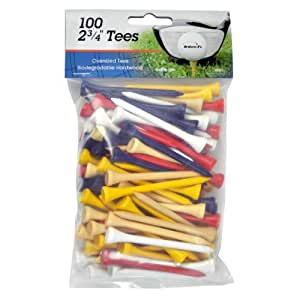"INTECH Golf Tee 2 3/4"" 100 Pack (Multi)"