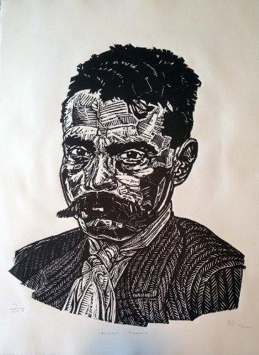 Amazon.com Art: Emiliano Zapata : Woodcut : William Acedo