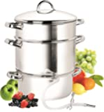 Cook N Home NC-00256 11-Quart Stainless-Steel Juicer Steamer